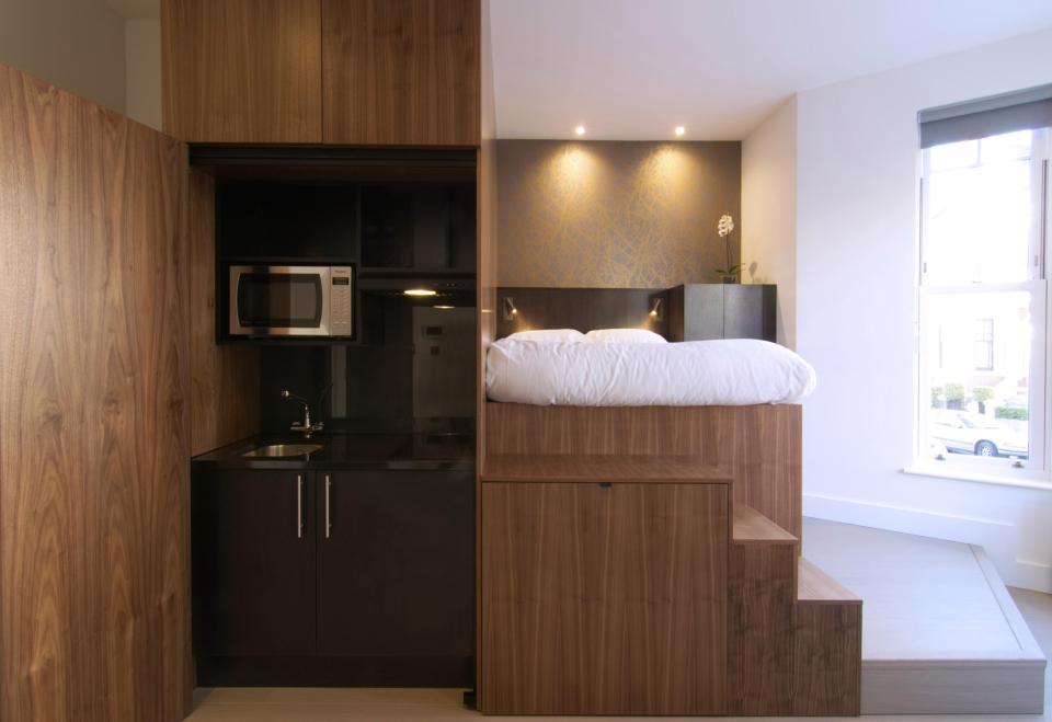 Bicblock diseña apartamentos de 18 m2 en Londres con un sistema modular estándar integrado