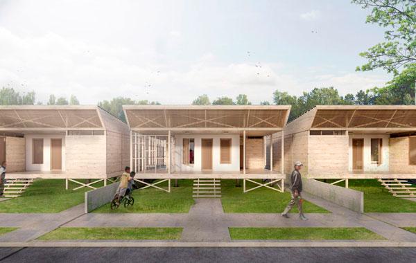 El sistema de viviendas modulares de Arana & Suasnabar Architects le permite añadir habitaciones a su hogar.